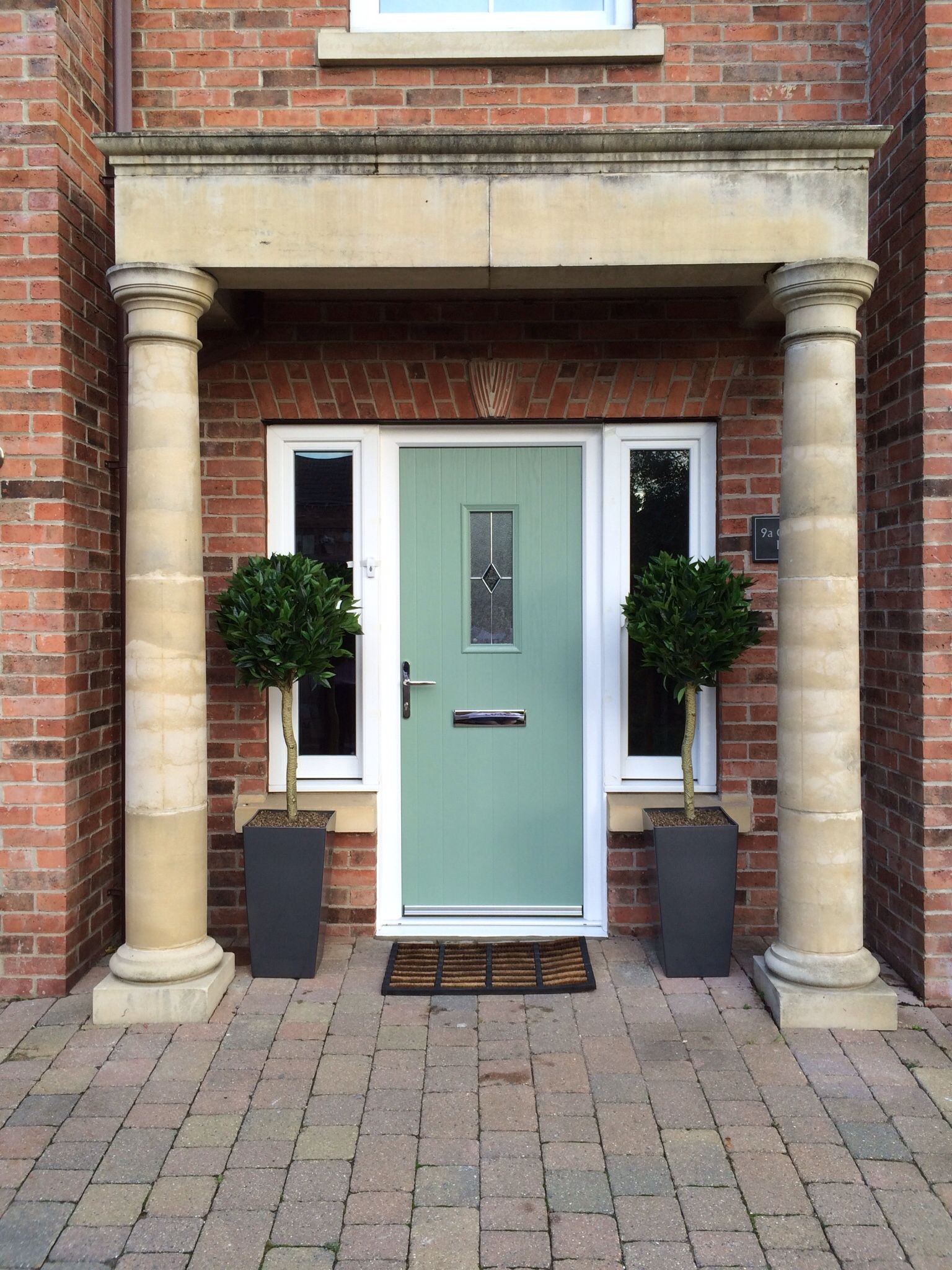 New Composite Front Door In Chartwell Green Fitted By