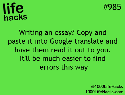 essay writing hacks Don't buy your essays from an unreliable service count on an established company like us to provide the best essay writing solutions for you learn how mylearningzone team is aimed at delivering #1 customer service, #9989 unbeatable quality as well as competitive prices and convenience.