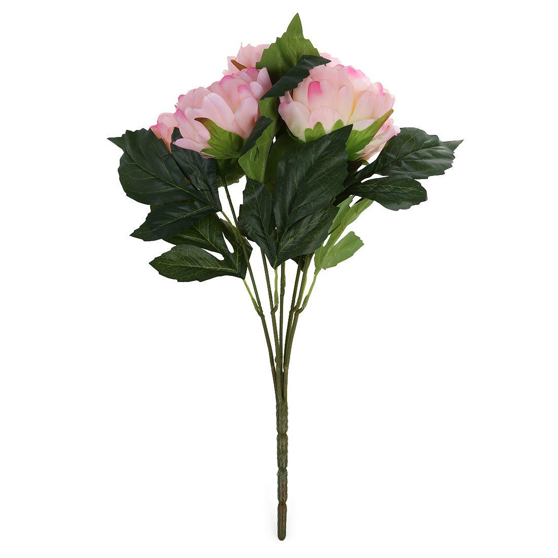 Artificial Peony Silk Flower Bouquet Pink 40cm Affiliate