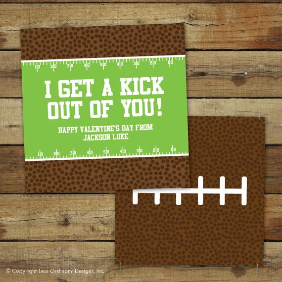Printable football Valentines Day Card I get by saralukecreative – Football Valentines Day Cards