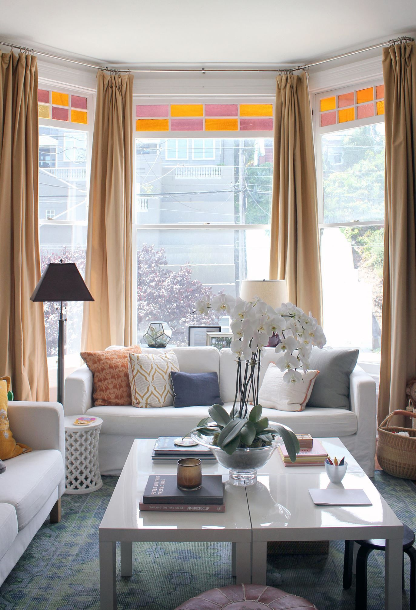 Bay window decor  psst hereus how to live large on any budget  interior ideas