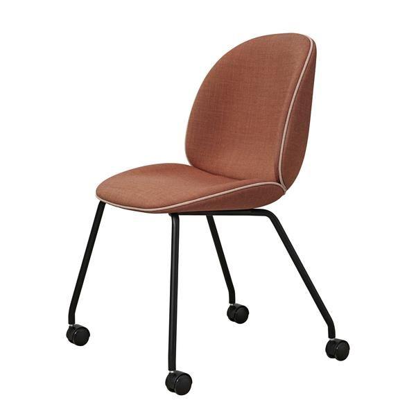 Beetle Meeting Chair 4 Legs W Castors Fully Upholstered Chair Castors Upholstered Seating Upholster