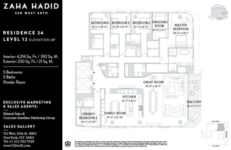 Floorplan For 520 West 28th Street 24 Zaha Hadid Floor Plans Zaha