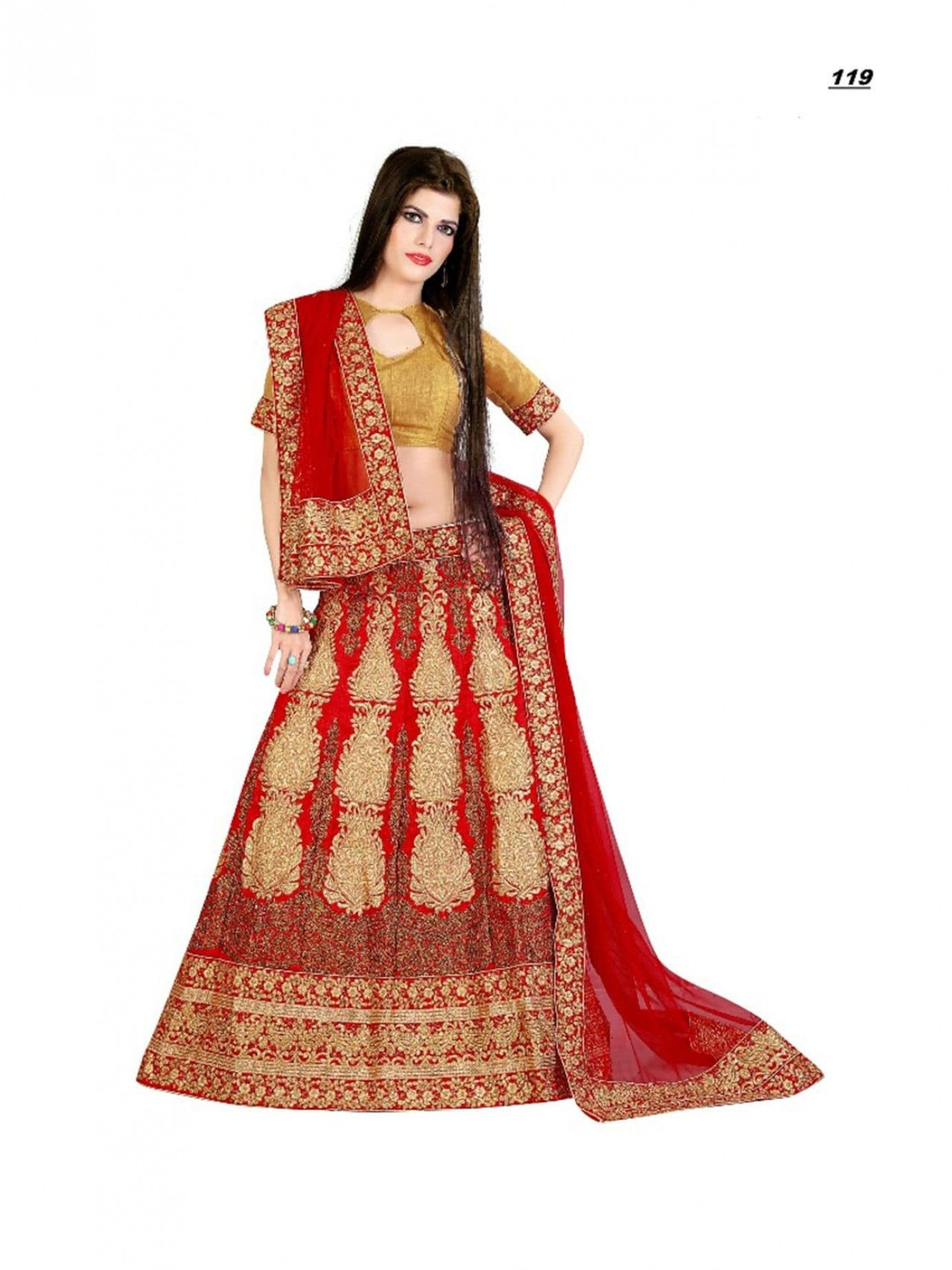 1d50891197 Shop Online Red Art Silk Embroidery Traditional Lehenga Choli at Low Rate |  Mayloz