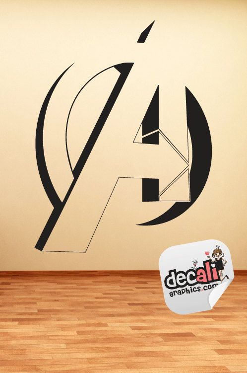 The Avengers Logo Vinyl Wall Decal. $29.95, via Etsy. | Boy room ...
