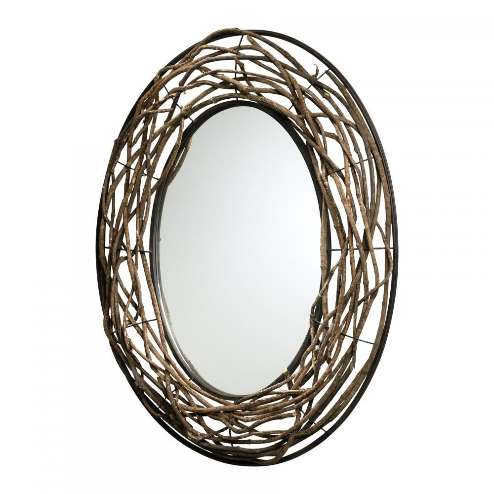Rustico Oval Mirror From Cyan Designs. Organic Materials Of Twigs  Incorporated With The Metal Frame