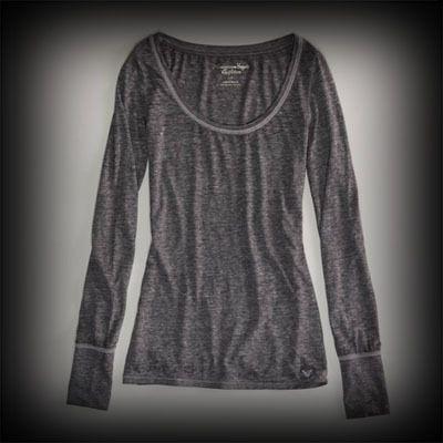 アメリカンイーグル レディース シャツ American Eagle AE FAVORITE SCOOP ニットTシャツ-アバクロ 通販 ショップ-【I.T.SHOP】 #ITShop