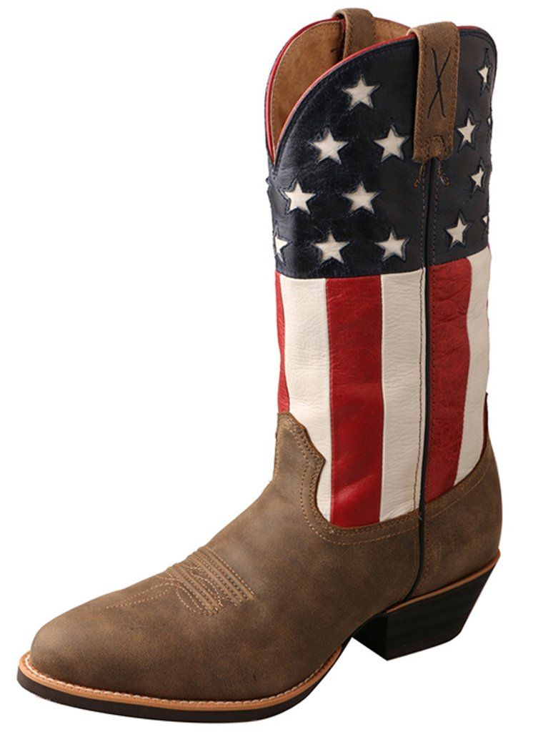 Twisted X Mens Bomber Leather Usa Flag 13in Western Cowboy Boots Boots Mens Cowboy Boots Western Cowboy Boots