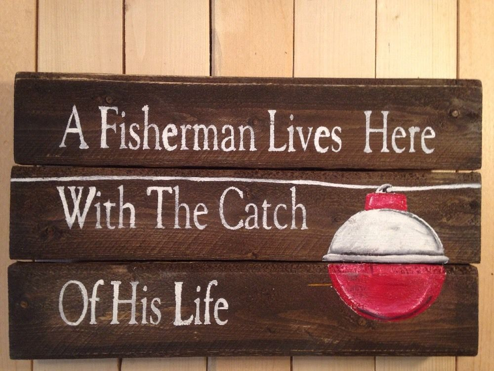 Man Cave Signs At Hobby Lobby : Fisherman lodge handmade pallet man cave porch primitive rustic
