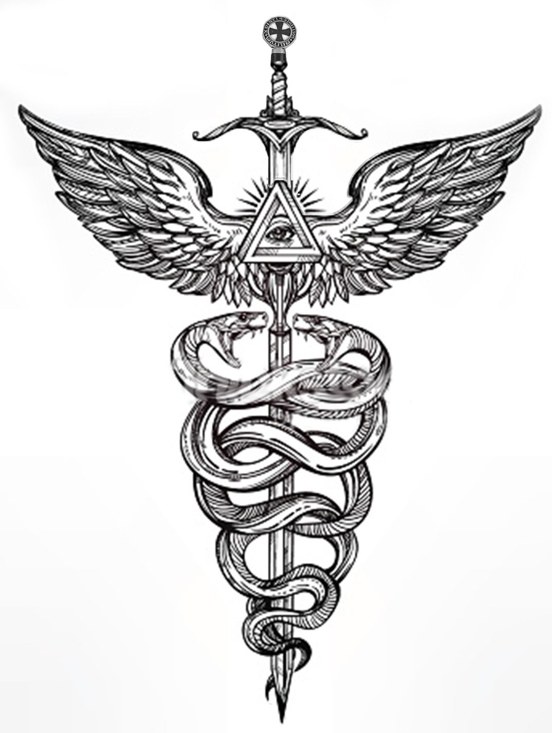 The caduceus is an attribute characterizing the two functions of the caduceus is an attribute characterizing the two functions of hermes a messenger of god associated with the descending phase and also a psychop biocorpaavc Gallery