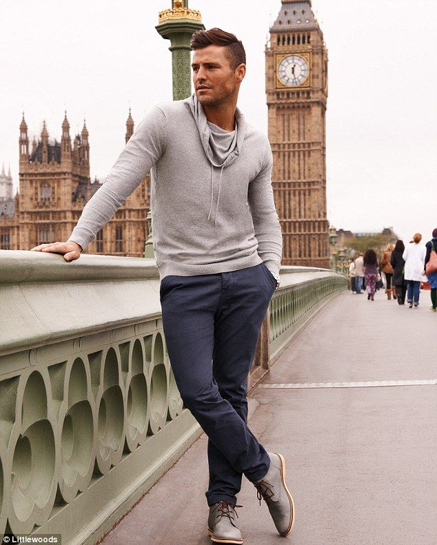 78c71f878c2 He s been practicing  Former TOWIE star Mark Wright poses up a storm in  front of Big Ben as he models for the new Littlewoods campaign
