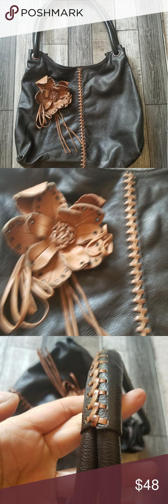 WILSON'S LEATHER brown hobo Brown leather hobo bag with