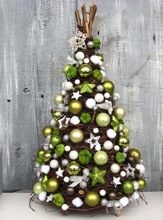Trendy Genialne Choinki Z Wikliny Idealne Do Malych Wnetrz Handmade Christmas Decorations Christmas Deco Christmas Decorations
