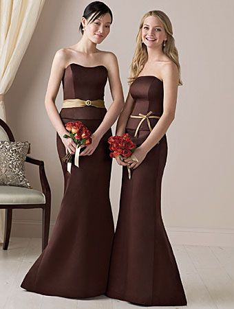 Like This Too Different Color Brown Bridesmaid Dresses Chocolate Bridesmaid Dresses Bridesmaid Dresses