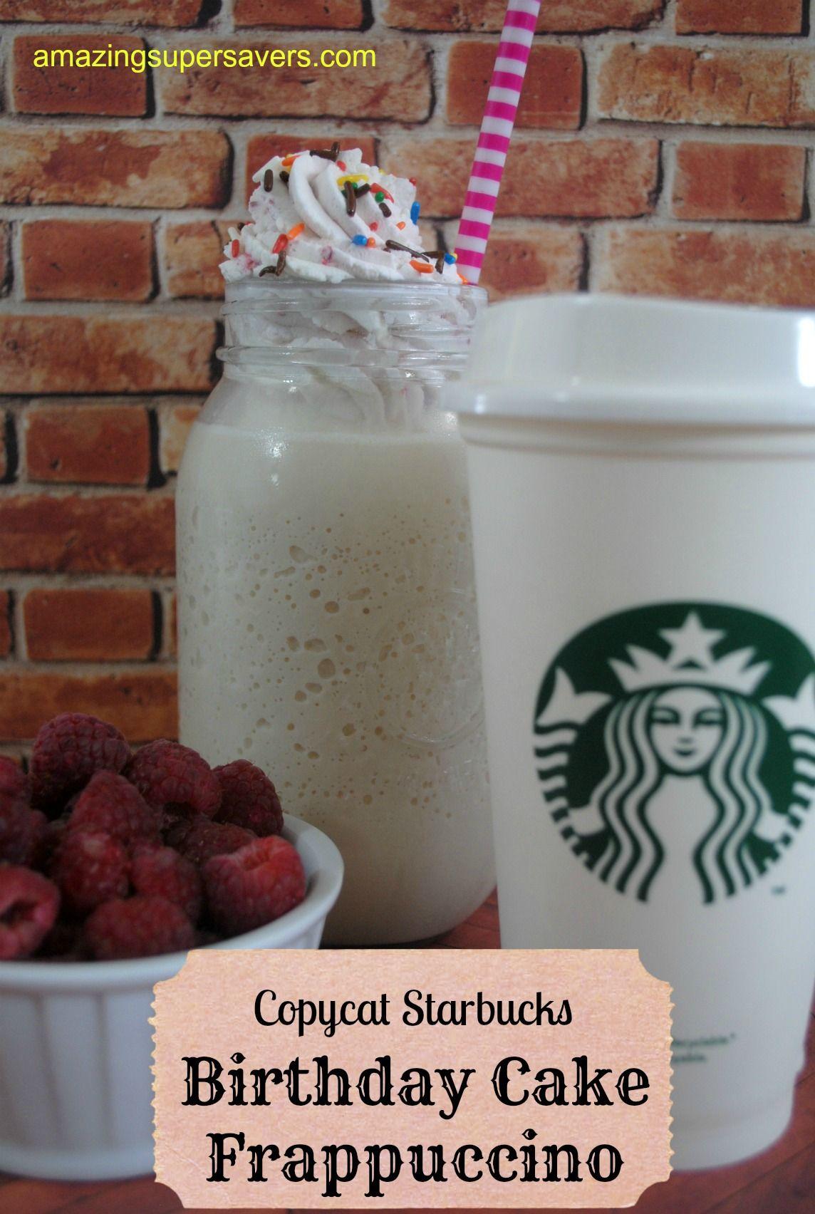Bday Starbucks Frap Beverages Pinterest Starbucks Birthday