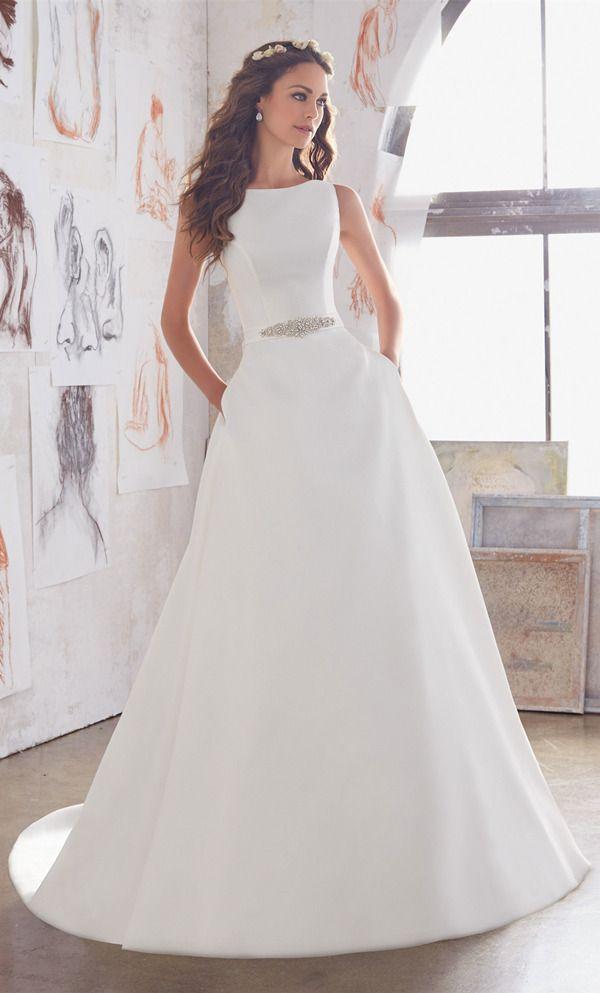 simple elegant a line wedding dresses for 2017