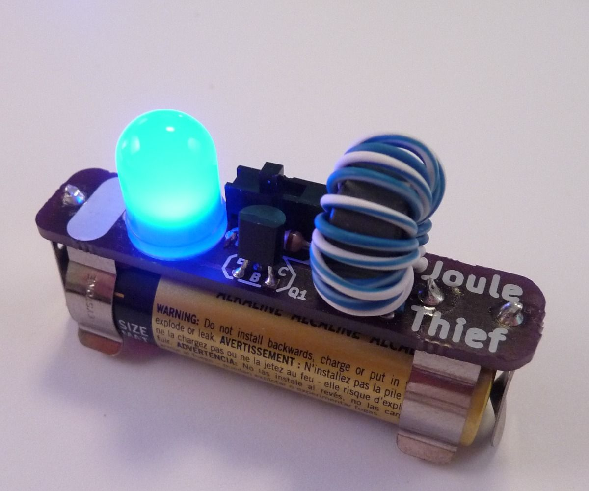Easy Joule Thief Soldering Project Electronics Projects Led Lighting Circuitsled Pcb Boardalumimun Buy The Is A Clever Little Circuit That Can Light With Battery