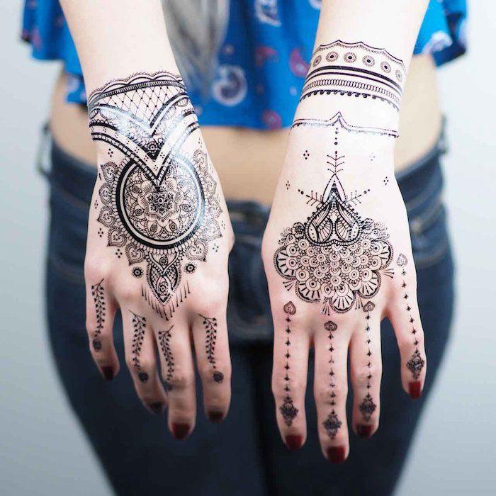 1001 + Ideen für coole Hand Tattoos mit Bedeutung | Henna