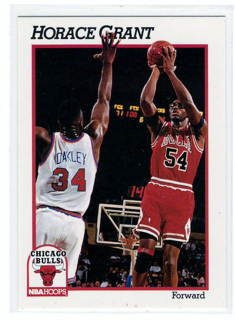 Basketball trading cards 1991 nba hoops horace grant