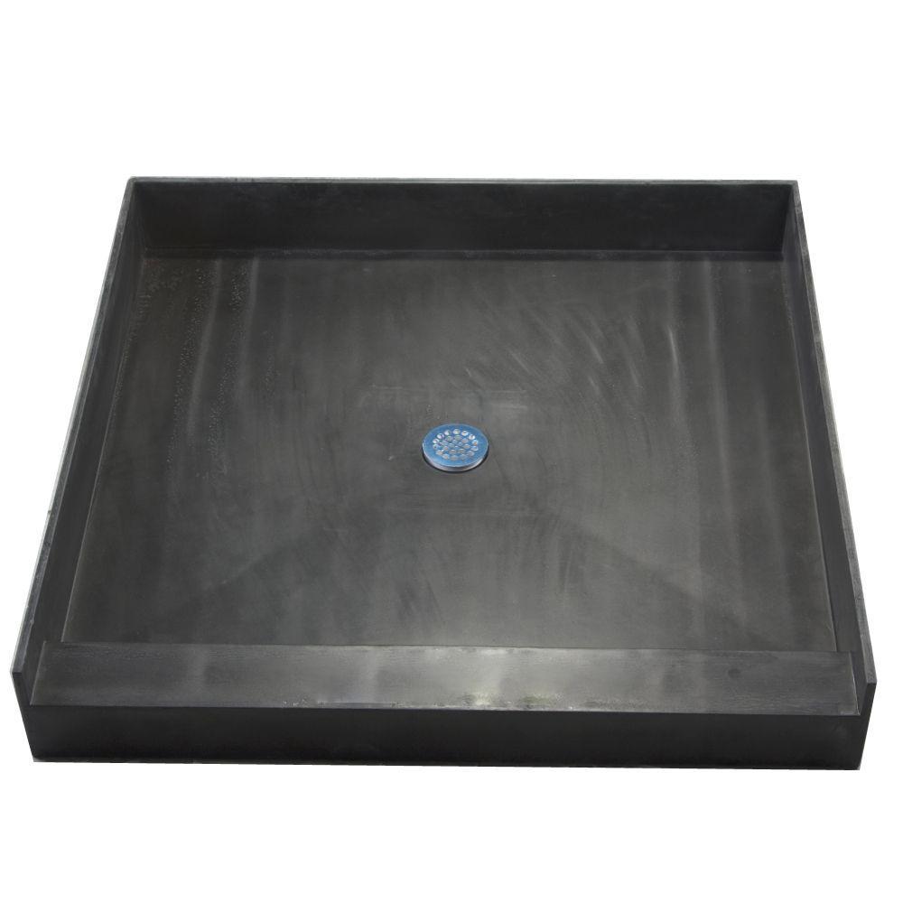 Tile Ready Shower Pan 48 X 48 Center Pvc Drain L13917634 Jpg 1 000