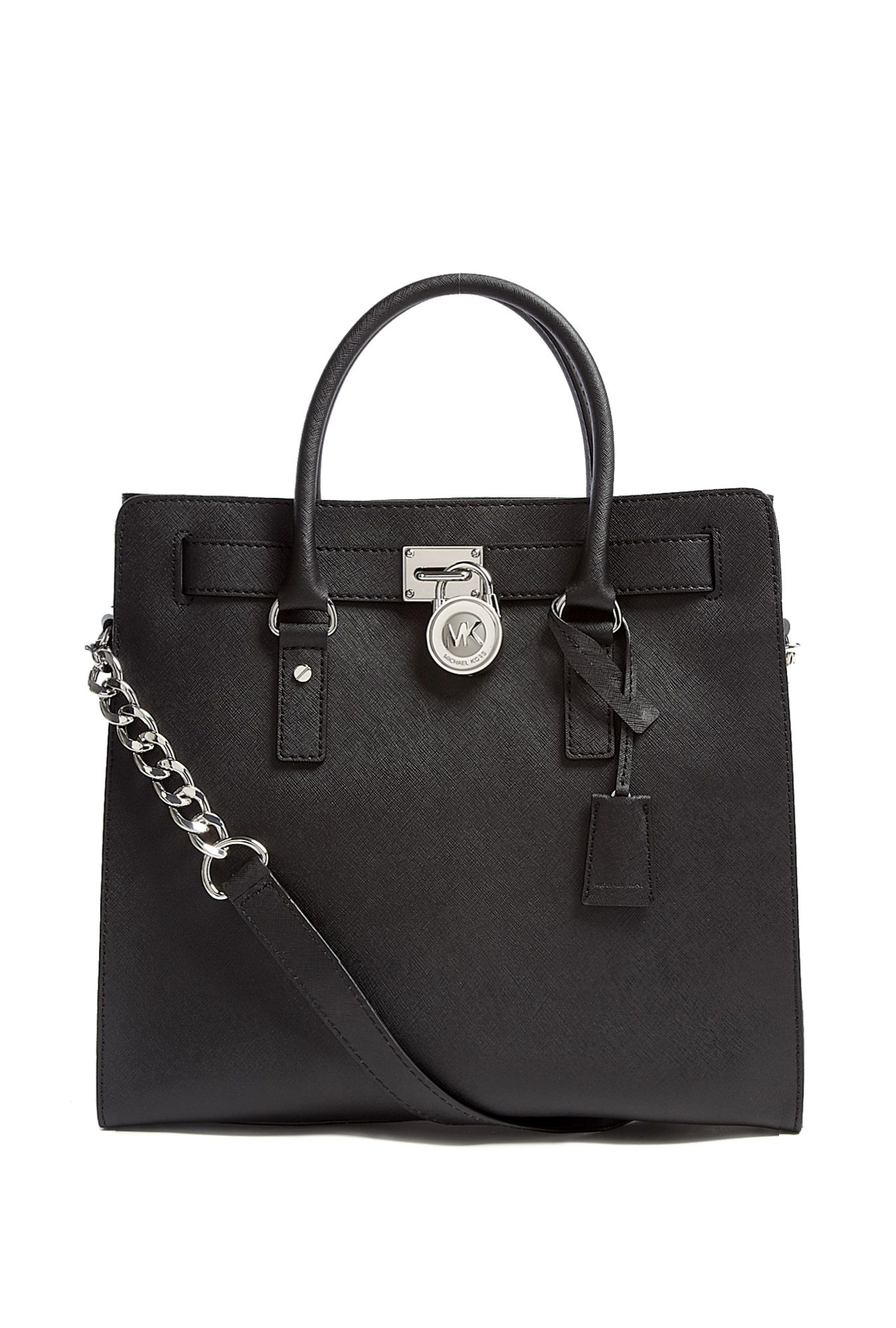 Black Large Hamilton North South Tote by MICHAEL Michael Kors