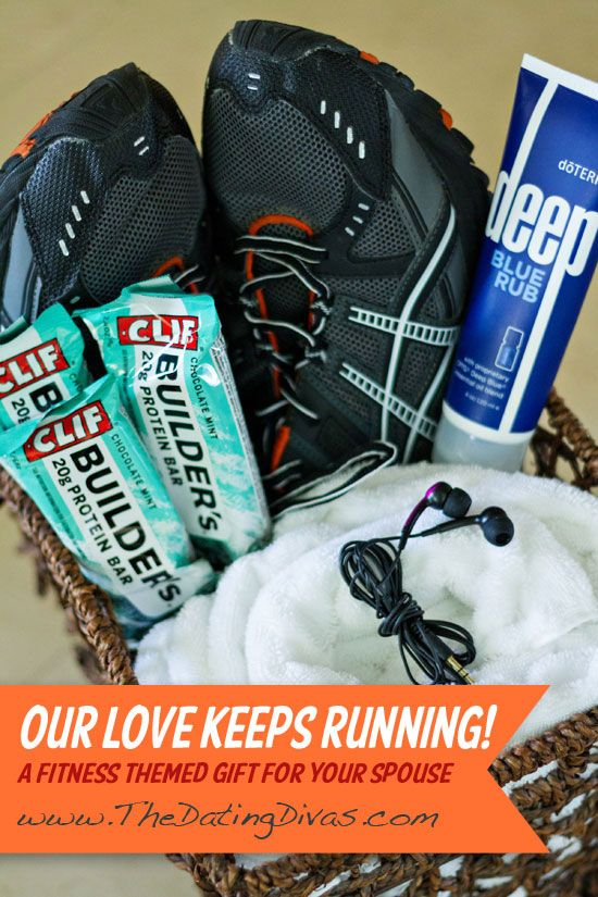 Gift for him our love keeps running themed gift baskets gift and surprise your man with this simple but meaningful gift a fitness themed gift basket thedatingdivas fitness giftideas giftsforhim negle Choice Image