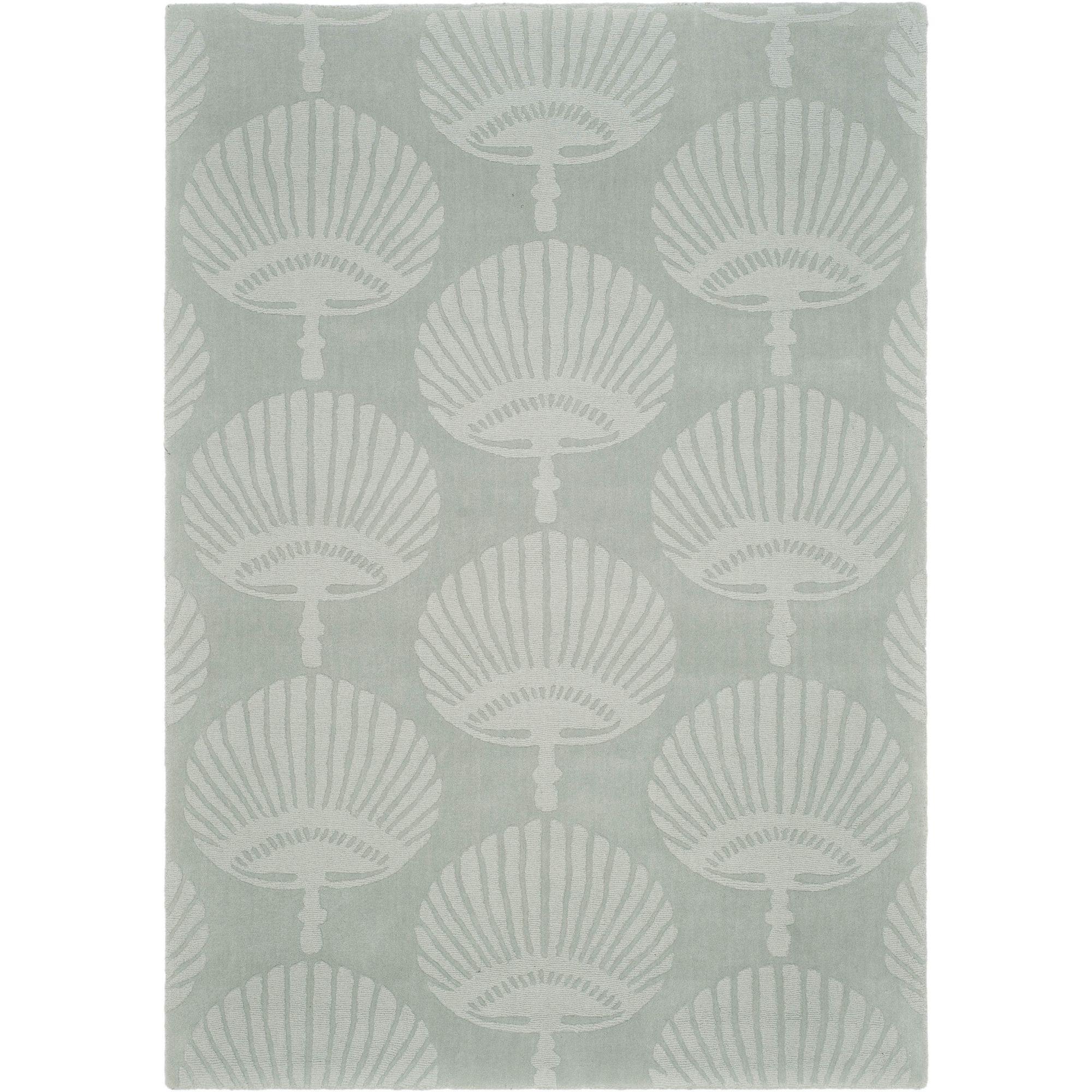 Safavieh Handmade Sea Shells Grey New Zealand Wool Rug (7' 6 x 9' 6 ) (IM411A-8) (Cotton, Geometric)
