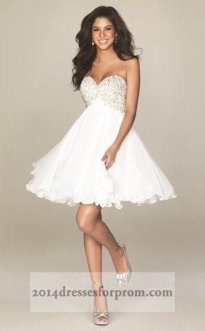 Short White Prom Dresses 2014 - Missy Dress