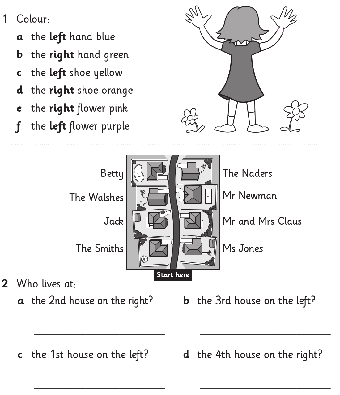 Teaching Direction Worksheets   Printable Worksheets and Activities for  Teachers [ 1278 x 1100 Pixel ]