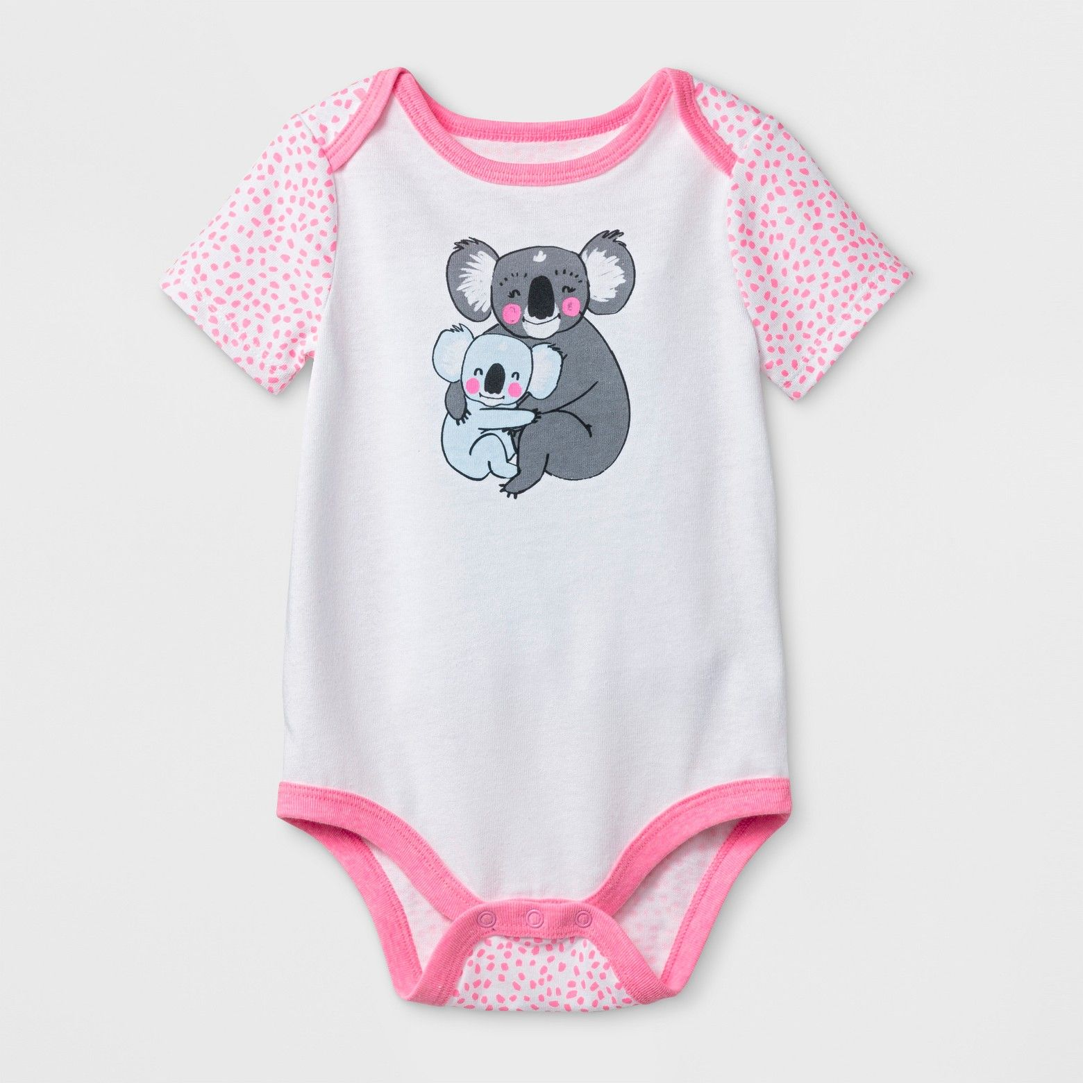 Cat & Jack Baby Girls Koala Bodysuit White