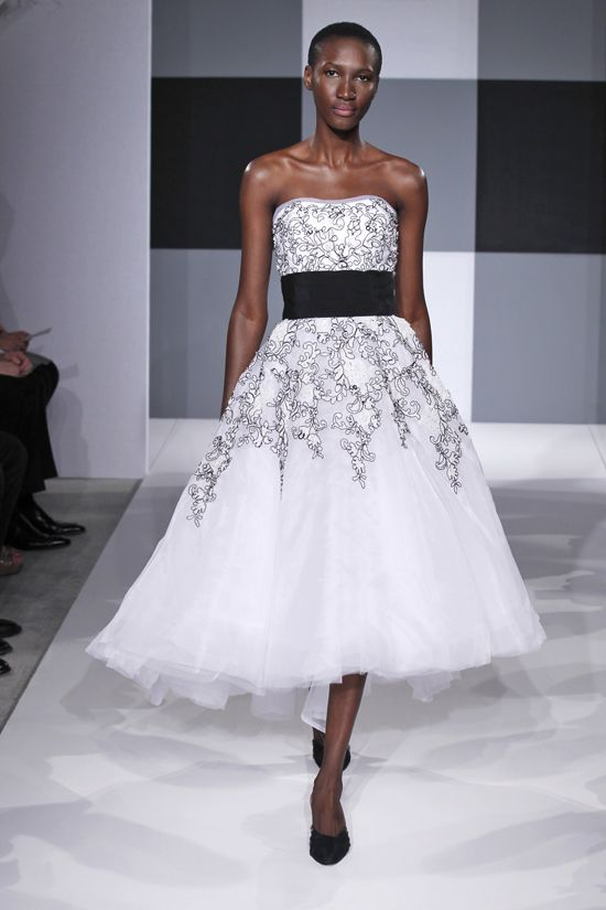 Black and white wedding gowns dresses