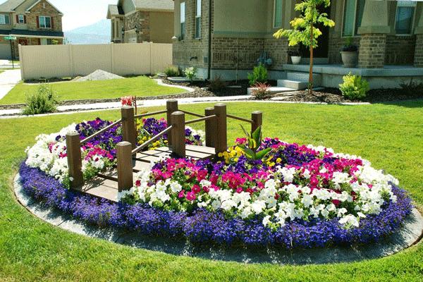 parterres de fleurs amenagement jardin