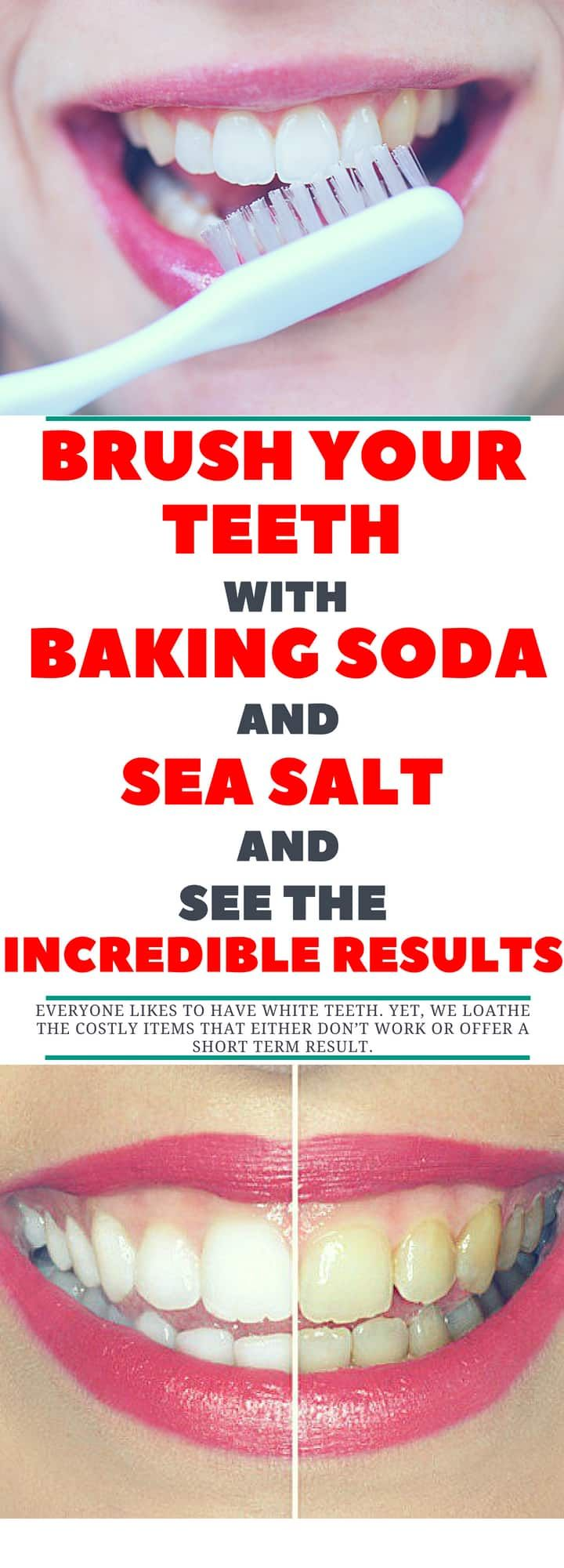 Brush Your Teeth With Baking Soda And Sea Salt And See The