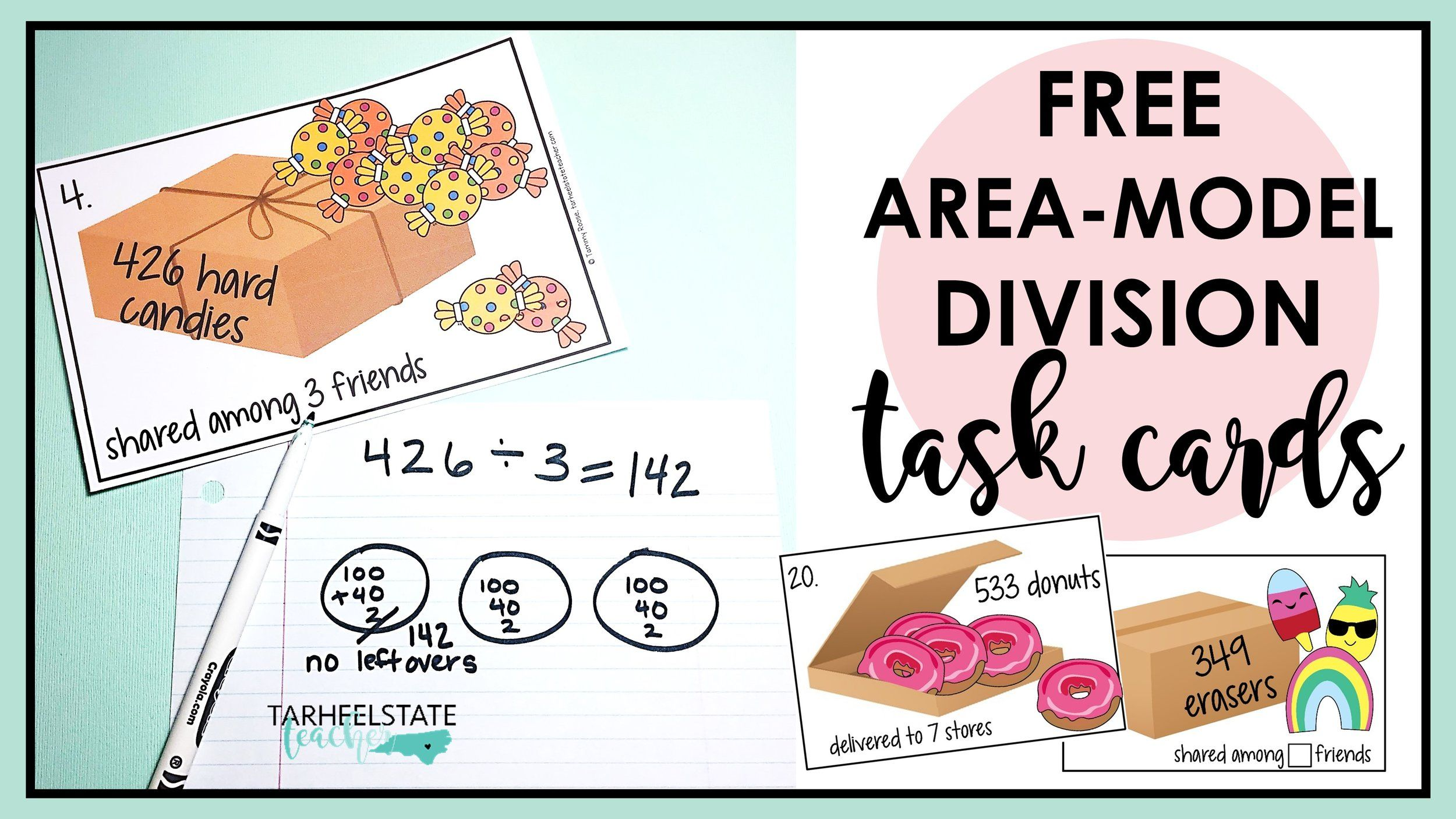 Free Area Model Division Teaching Resource In