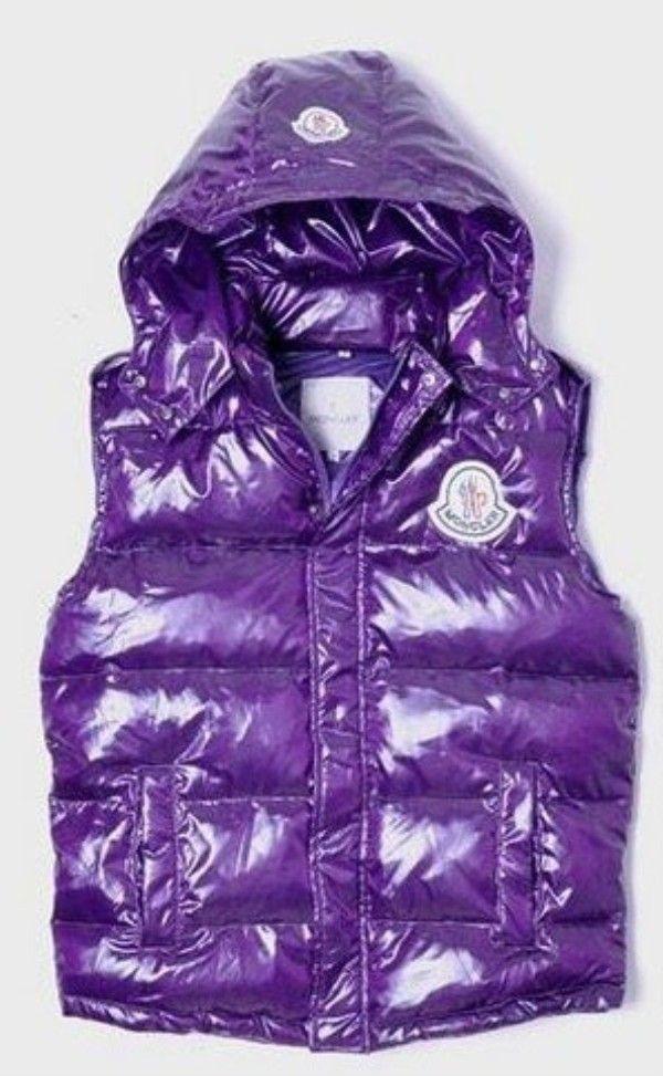 52d37876b3 Moncler Clairy Sleeveless Down Hoodie Vest Women Purple  2900243  - £133.59