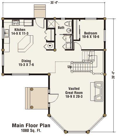 Casita Floor Plan Guest House Plans Log Home Designs Floor Plans
