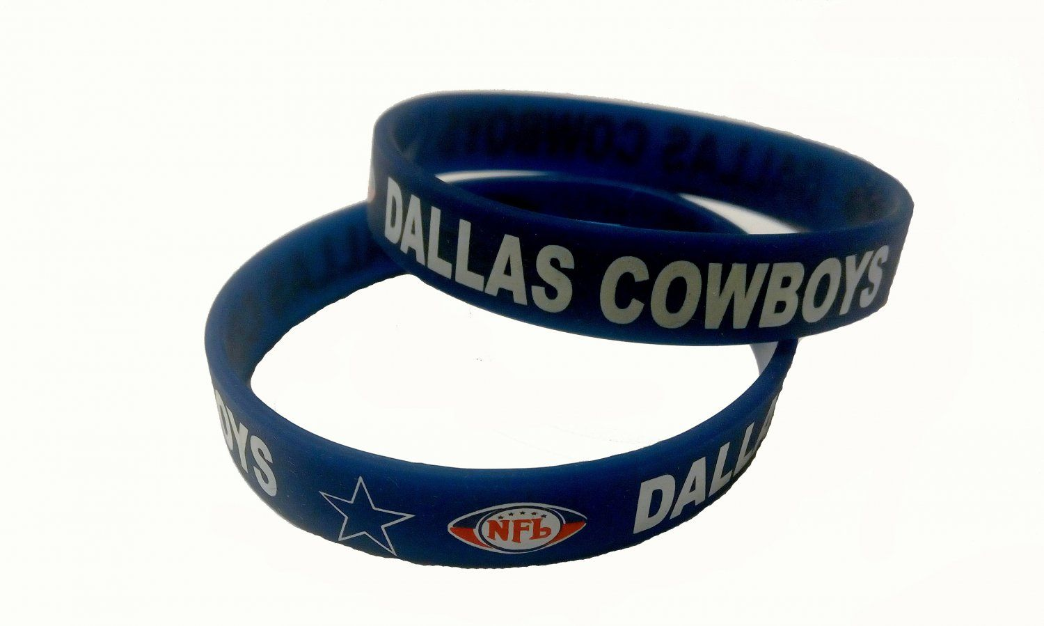Dallas Cowboys Nfl Football Team Silicone Rubber Bracelet