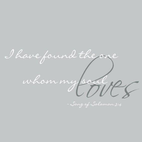...whom my soul loves...