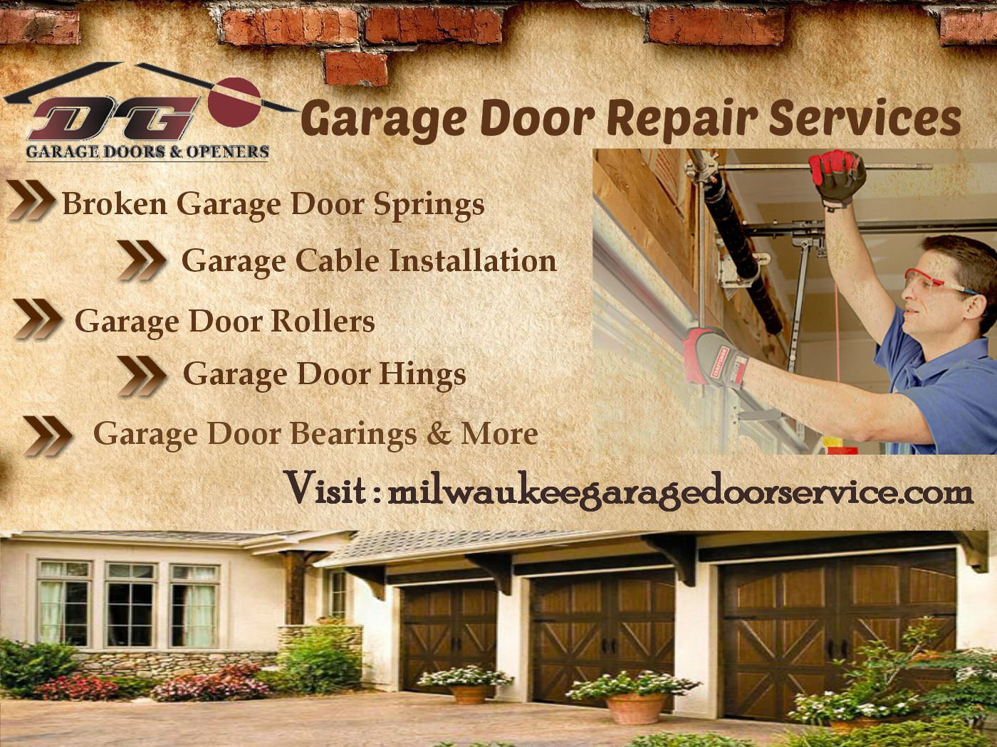 We Offer Fast Affordable Milwaukee Garage Door Installation And Repair Services Throughout The Area Garage Doors Garage Door Installation Garage Service Door
