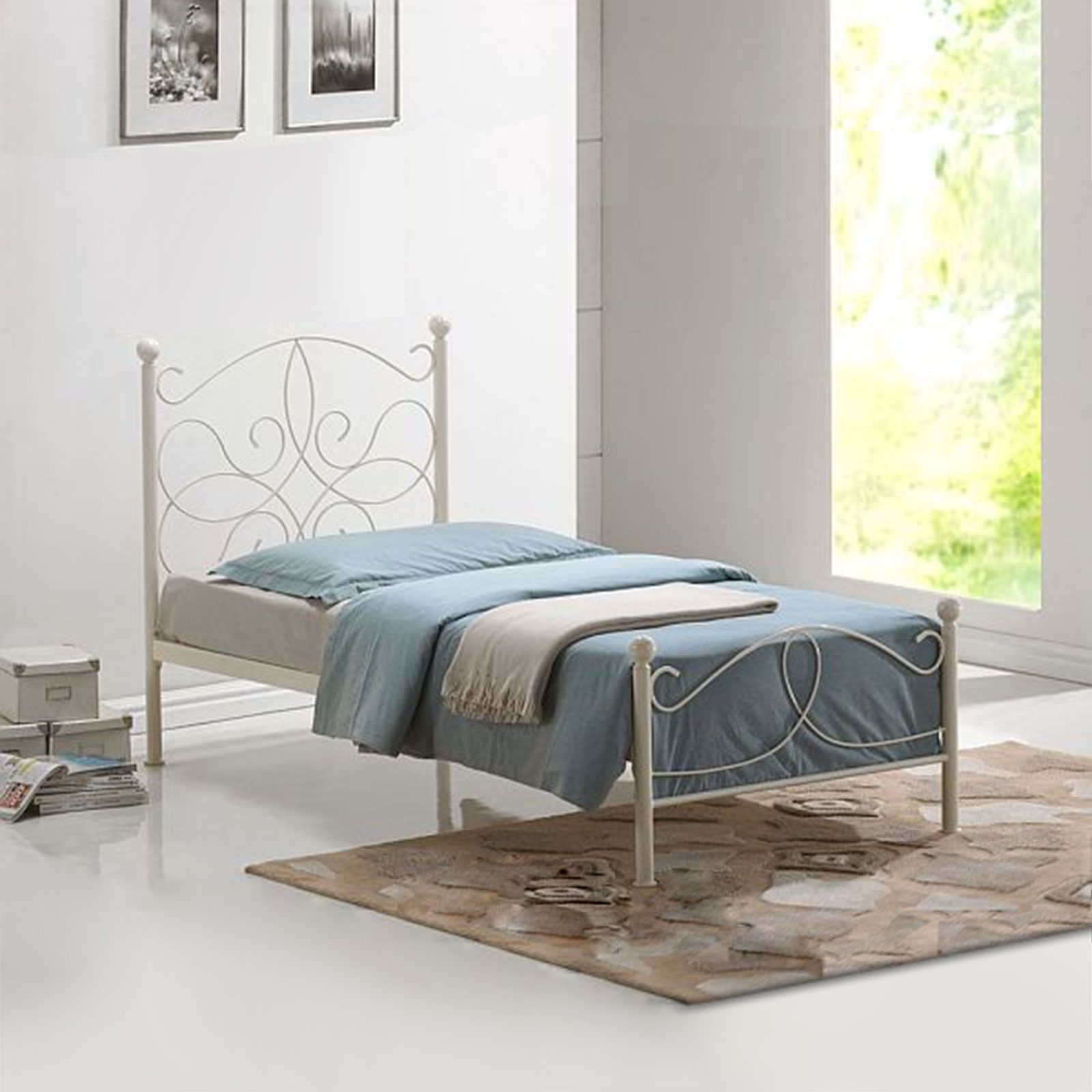 Time Living Melissa Ivory Metal Bed | Metal beds, Bed frames and Ivory