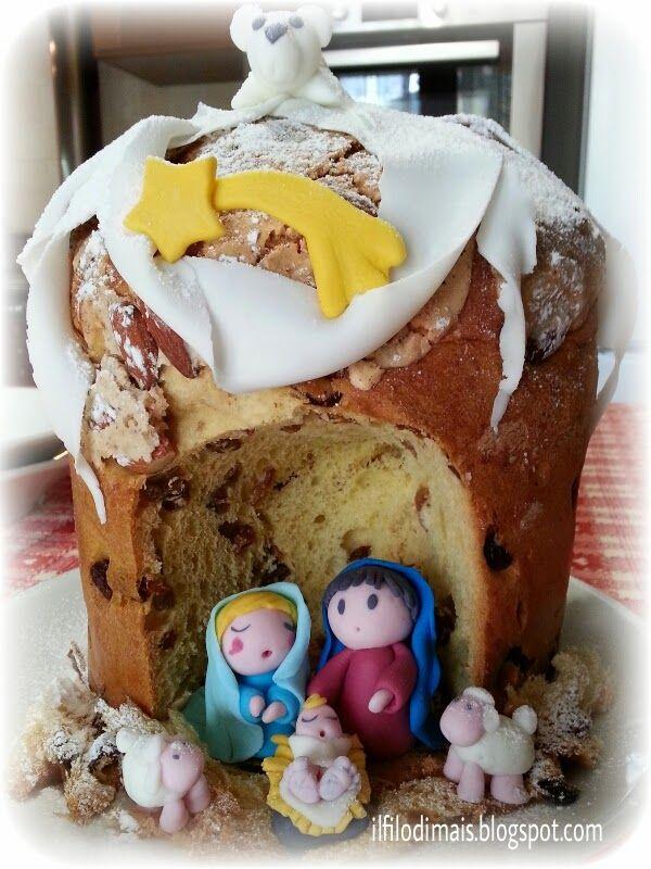 Nativita In Pasta Di Zucchero Nel Panettone Idee Per Natale