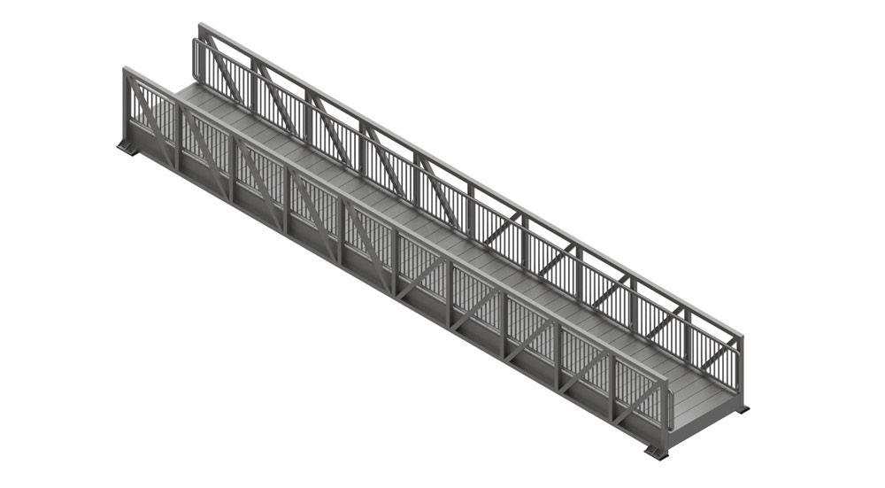 Aluminum Pedestrian Bridge Design Examples From Gatorbridge Pedestrian Bridge Bridge Design Pedestrian Bridge Design