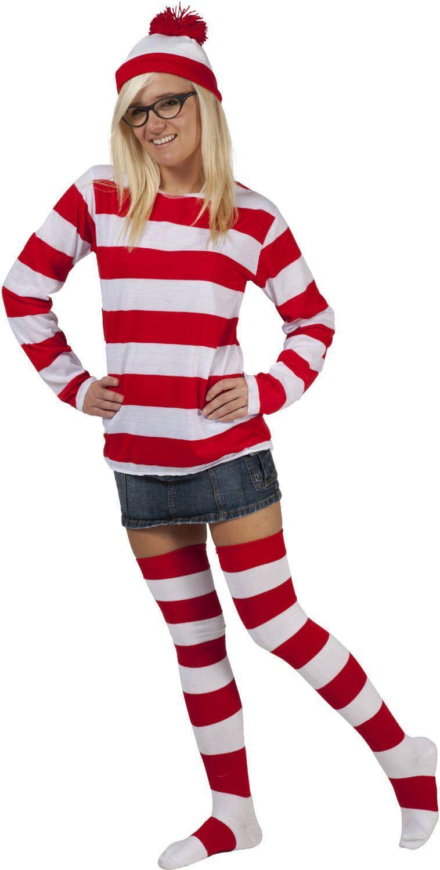 Whereu0027s Waldo / Wenda Halloween Party Costume  sc 1 st  Pinterest & Wheres Wenda Costume | Halloween party costumes Halloween parties ...