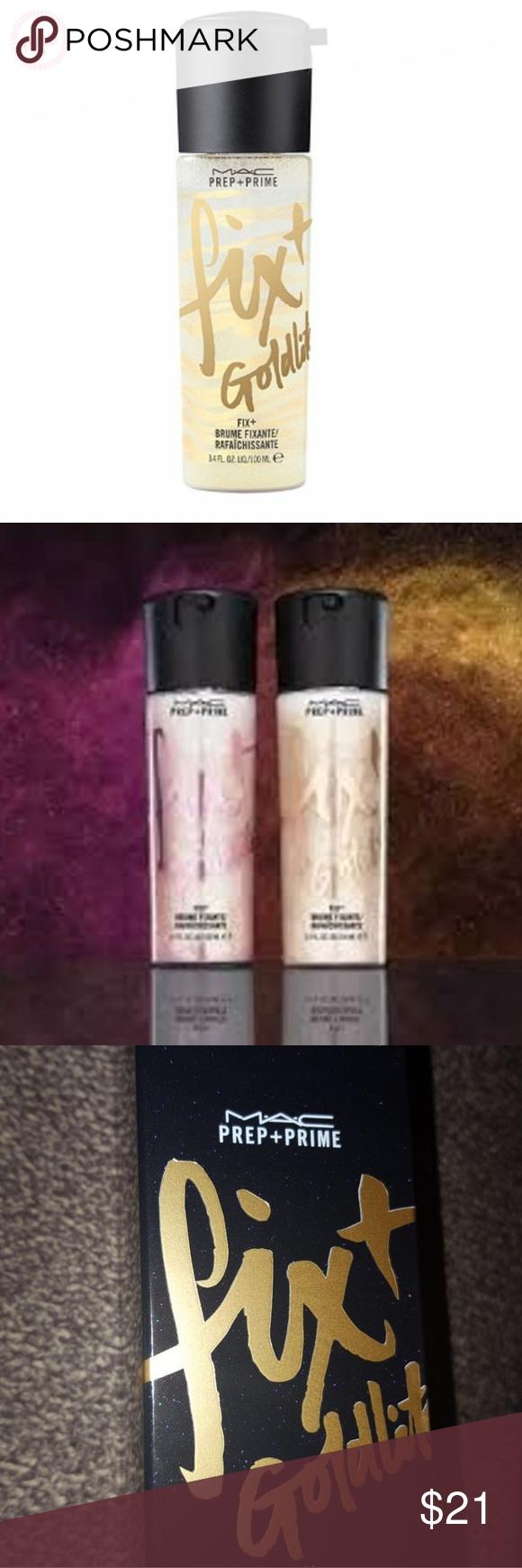 BNIB MAC Cosmetics Fix Plus Goldlite Setting Spray