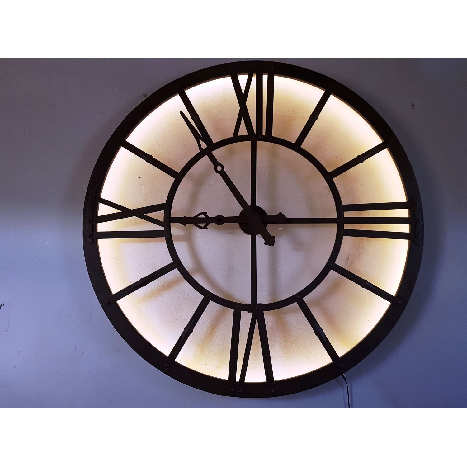 London large wrought iron effect urban chic illuminated wall clock london large wrought iron effect urban chic illuminated wall clock amipublicfo Images
