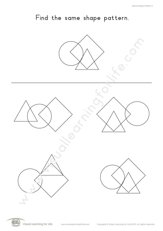 Same Shape Pattern In