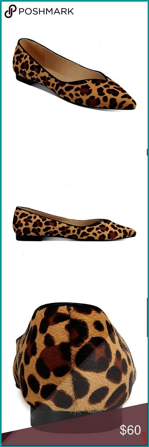 Pointed Toe Leopard Flats Size 7 5 NEW Marc Fisher Pointed Toe Leopard Flats Size 7 5 Fits true to size I am between a 7 5 and 8 Br NEW Marc Fisher Pointed Toe Leopard Fl...