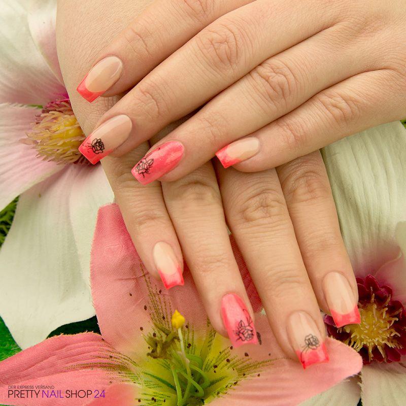 #naildesign #neon #coral #trend Meine Kollegin Meike steht ...