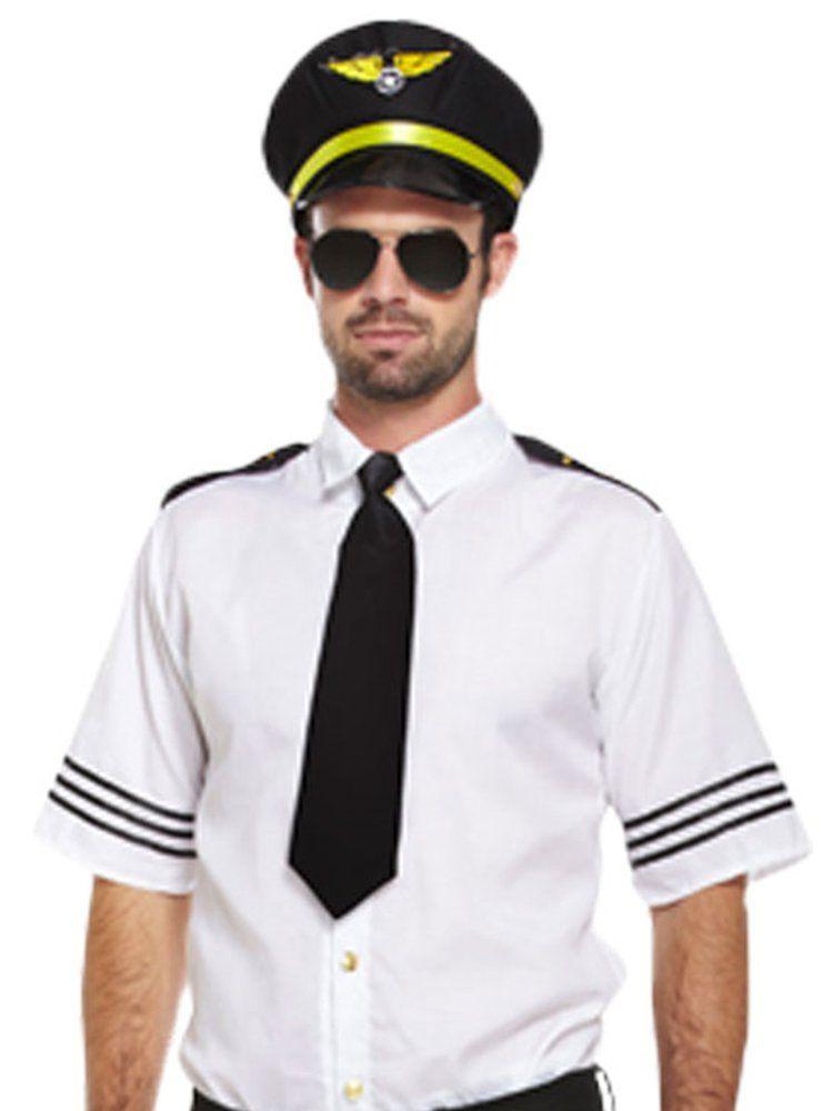 Pilot mens fancy dress costume adult 3638 chest
