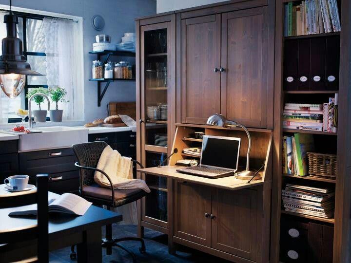 Ikea workspace. hemnes secretary w add on unit from desk collection